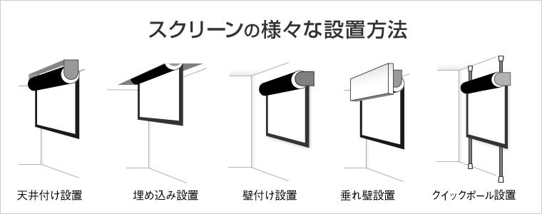 スクリーンの様々な設置方法   プロジェクタースクリーン専門店《公式 ...