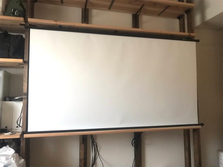 タペストリー(掛け軸)スクリーンのDIY設置