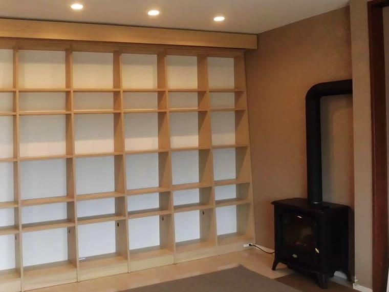 造作書棚の拡大写真