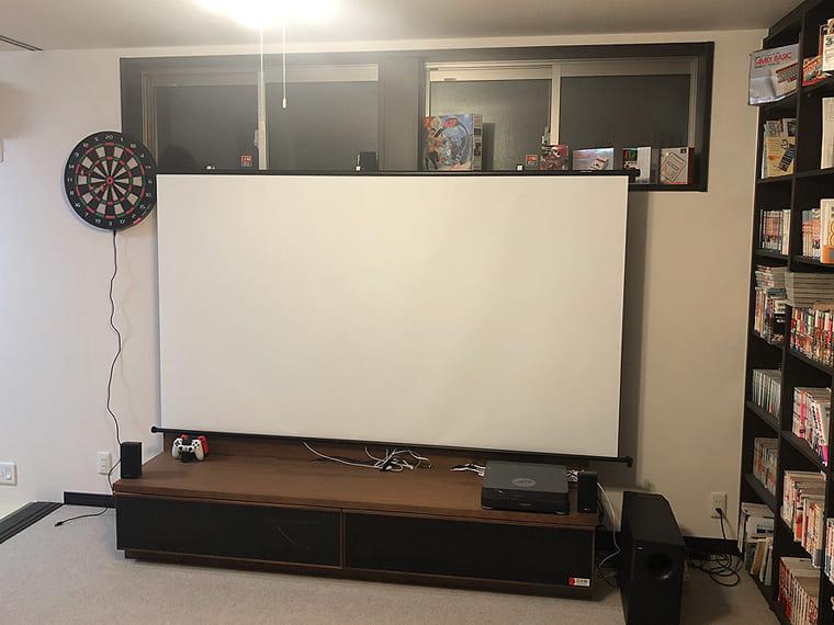 テレビボードを利用してDIYで設置
